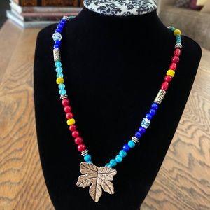 Karen Hill Tribe Silver Leaf Pendant Necklace
